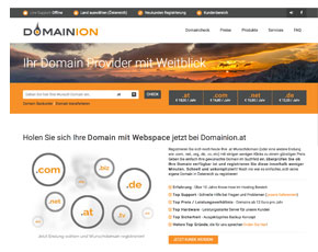 Webhosting von Domainion.at